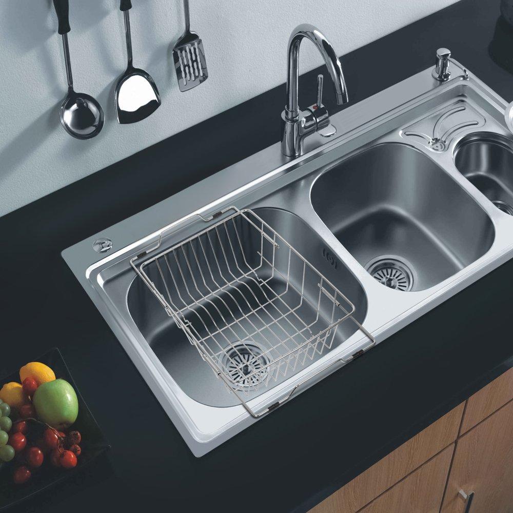 Amazon.com - NEX 2-Tier Under Sink Shelf Organizer Under Sink ...
