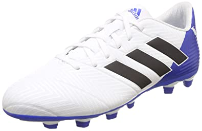 ac8d1c271a Adidas Men s Nemeziz Messi 18.4 FxG Ftwwht Cblack Fooblu Football Boots-10  UK