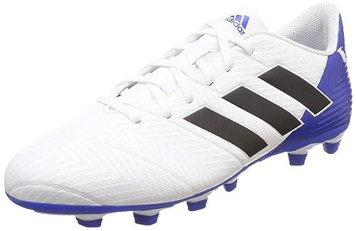 d0f68f673584 Adidas Men s Nemeziz Messi 18.4 FxG Ftwwht Cblack Fooblu Football Boots-10  UK
