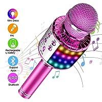SunTop Micrófono Karaoke Bluetooth, Microfono Inalámbrico Karaoke, Portátil
