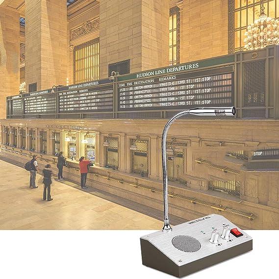 Retevis RT9908 Intercomunicador Ventanilla Sistema de Intercomunicación Ventana Dual Walkie Talkie Micrófono de Base 3W y Micrófono Remoto (Plata): ...