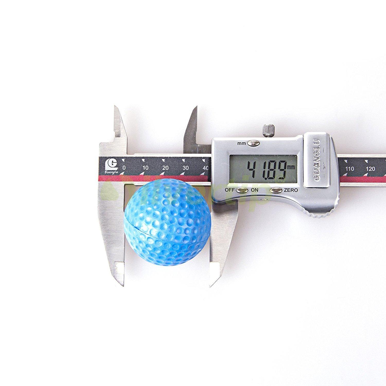 POSMA PB010AUS Golf PU Practice Balls soft balls golf training 24 Count, Blue by POSMA (Image #2)
