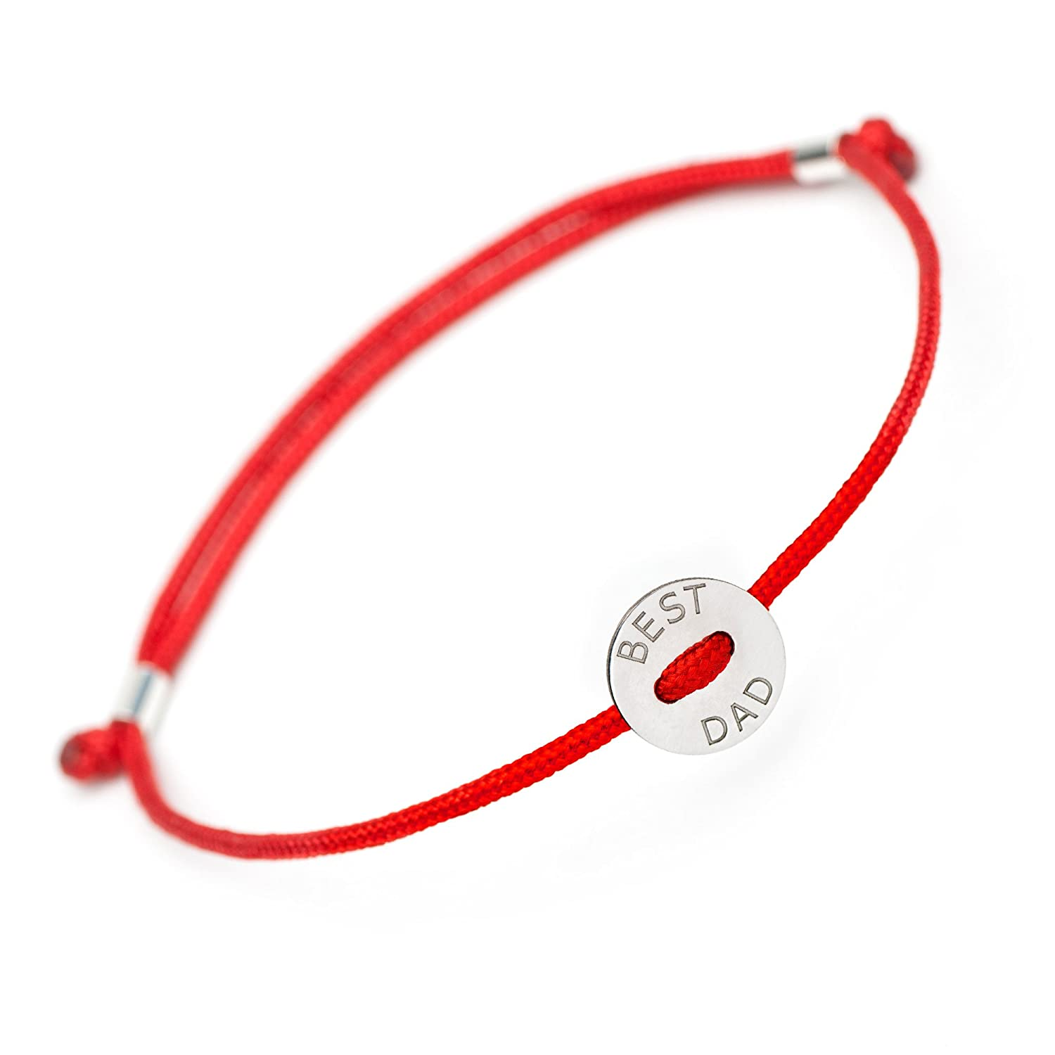 d1aee39e19784 Best Dad Best Mom Bracelets - Handmade Sterling Silver Charm Red Evil Eye  Protection Jewelry Family Matching Bracelet New Parents Fathers Mothers Day  ...