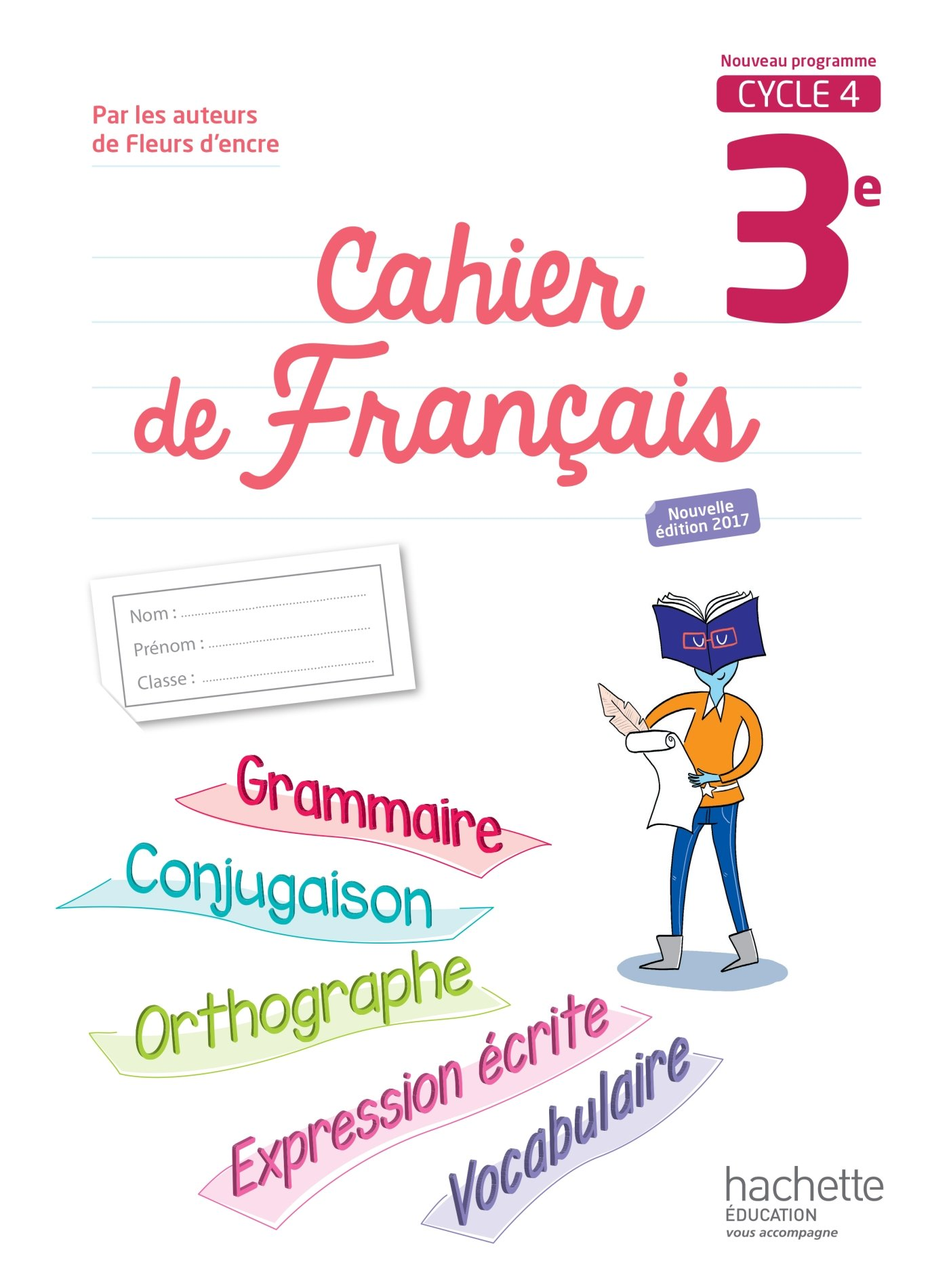 Cahier De Francais 3e Cycle 4 Amazon Co Uk Chantal