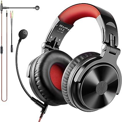 【80時間 & Bluetooth5.0】ヘッドホン Bluetooth ゲーミングヘッドセット マイク付き リモコン 音量調整 Xbox One PUBG 荒野行動 (proM)