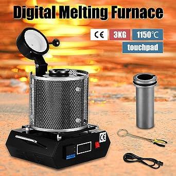 4YANG Horno Fundicion, 3KG 1150℃ Horno digital automático de ...
