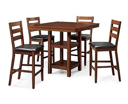 5 Piece Dalton Park Counter Height Dining Set, Mocha