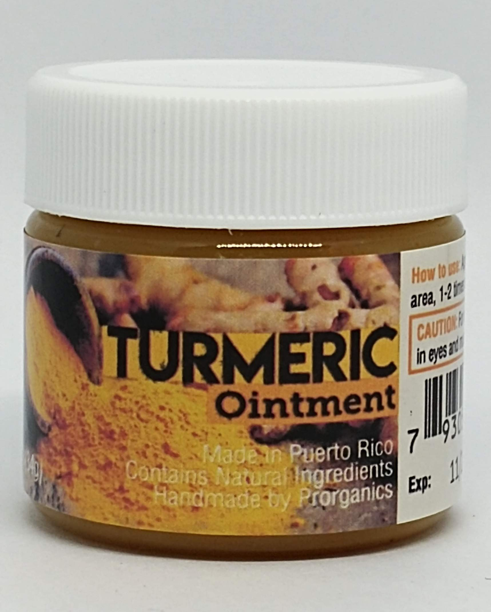 Prorganics Turmeric Ointment 1.2oz (for Resellers) Spanish and English Version Available.
