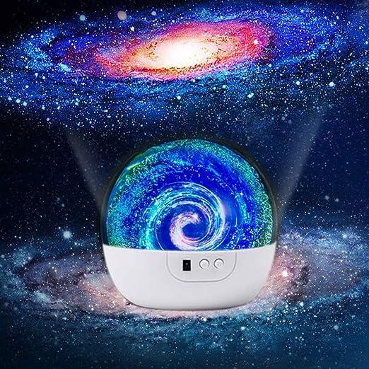 Estrella Luz de Noche 360 Grados de Rotación Led Star Lámpara de ...