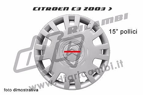 Tapacubos – Embellecedor de rueda - Tapacubos de 15 pulgadas (38,1 ...