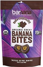 Barnana Organic Chewy Banana Bites - Dark Chocolate - 3.5 Ounce - Delicious Barnana Coated Potassium Rich Banana Snacks - Lu