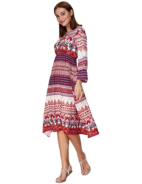 492631e3fcd5c HOT!* Amazon – Kate Kasin Women's Bohemian Ethnic Vintage Dress Long ...