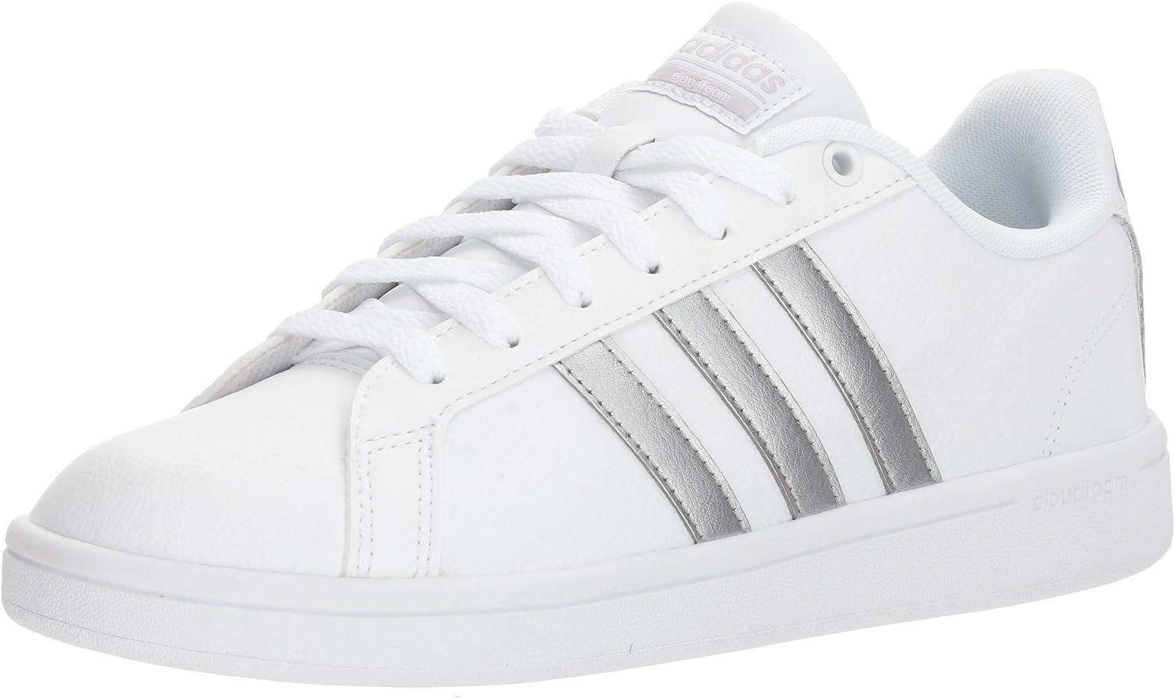 Women's Cloudfoam Advantage Sneaker, FTWR White, Silver met, core Black, 6.5 M US