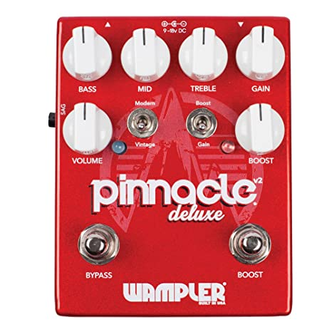 Wampler Pinnacle Deluxe V2 Distortion - Pedal de efectos para guitarra eléctrica