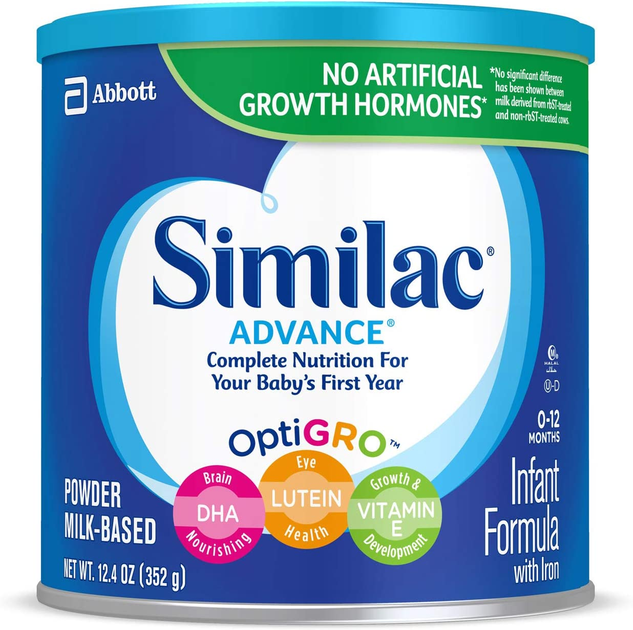 B000AS1LIM Similac Advance Infant Formula with Iron, Baby Formula, Powder, 12.4 oz (Pack of 6) 71KOxyIJFaL.SL1300_