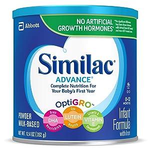 Similac Advance Infant Formula with Iron, Baby Formula, Powder, 12.4 oz (Pack of 6)