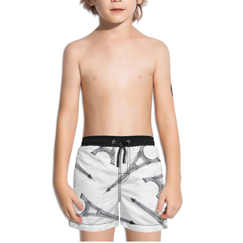 Ouxioaz Boys Swim Trunk Eiffel Tower Paris Beach Board Shorts