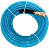"Maxaline Air Compressor Hose 1/4""X100FT Reinforced Polyurethane (PU) with 1/4 in Quick Connect Plug & Coupler Fittings Blue"