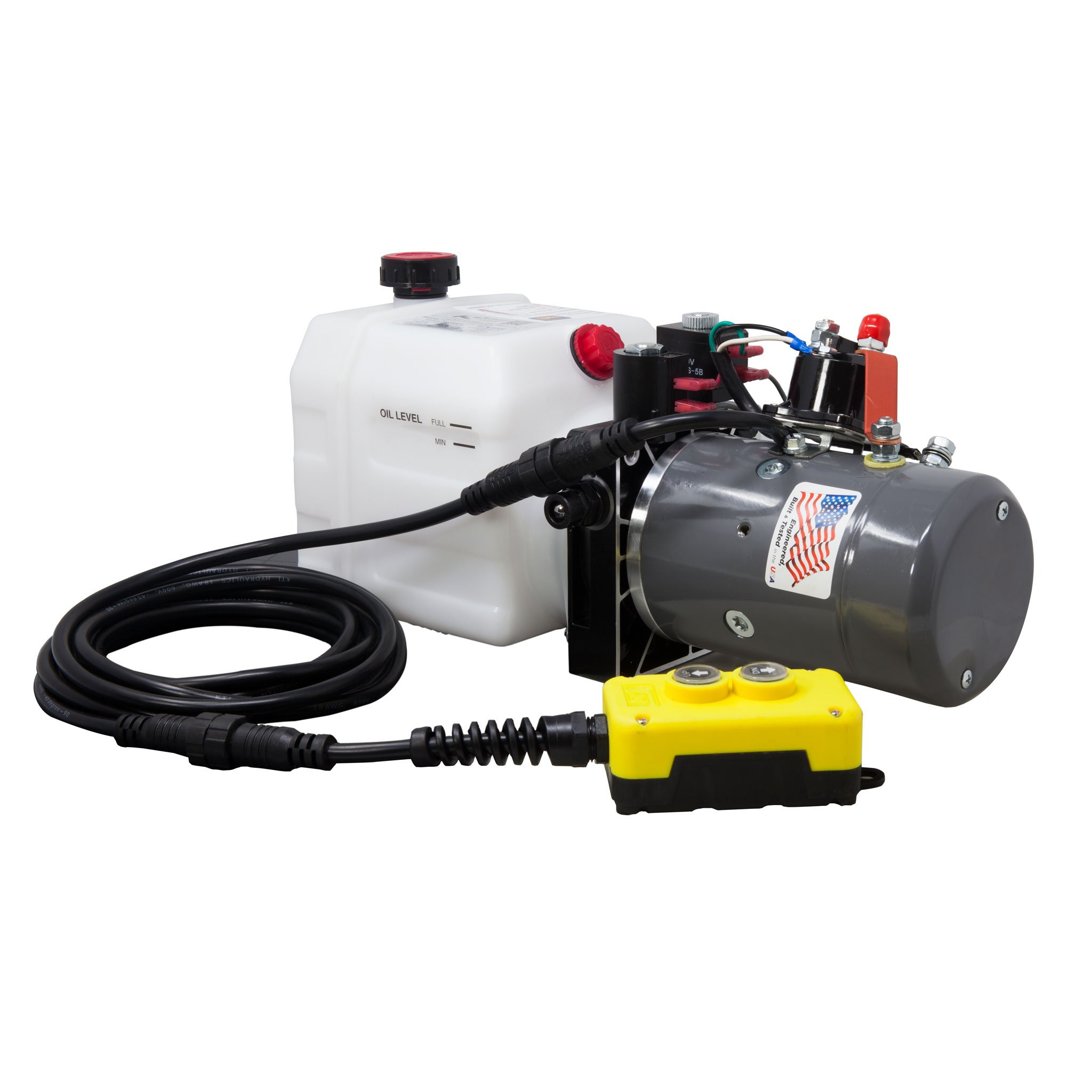 KTI Double Acting 12V Hydraulic Pump - 3 Quart