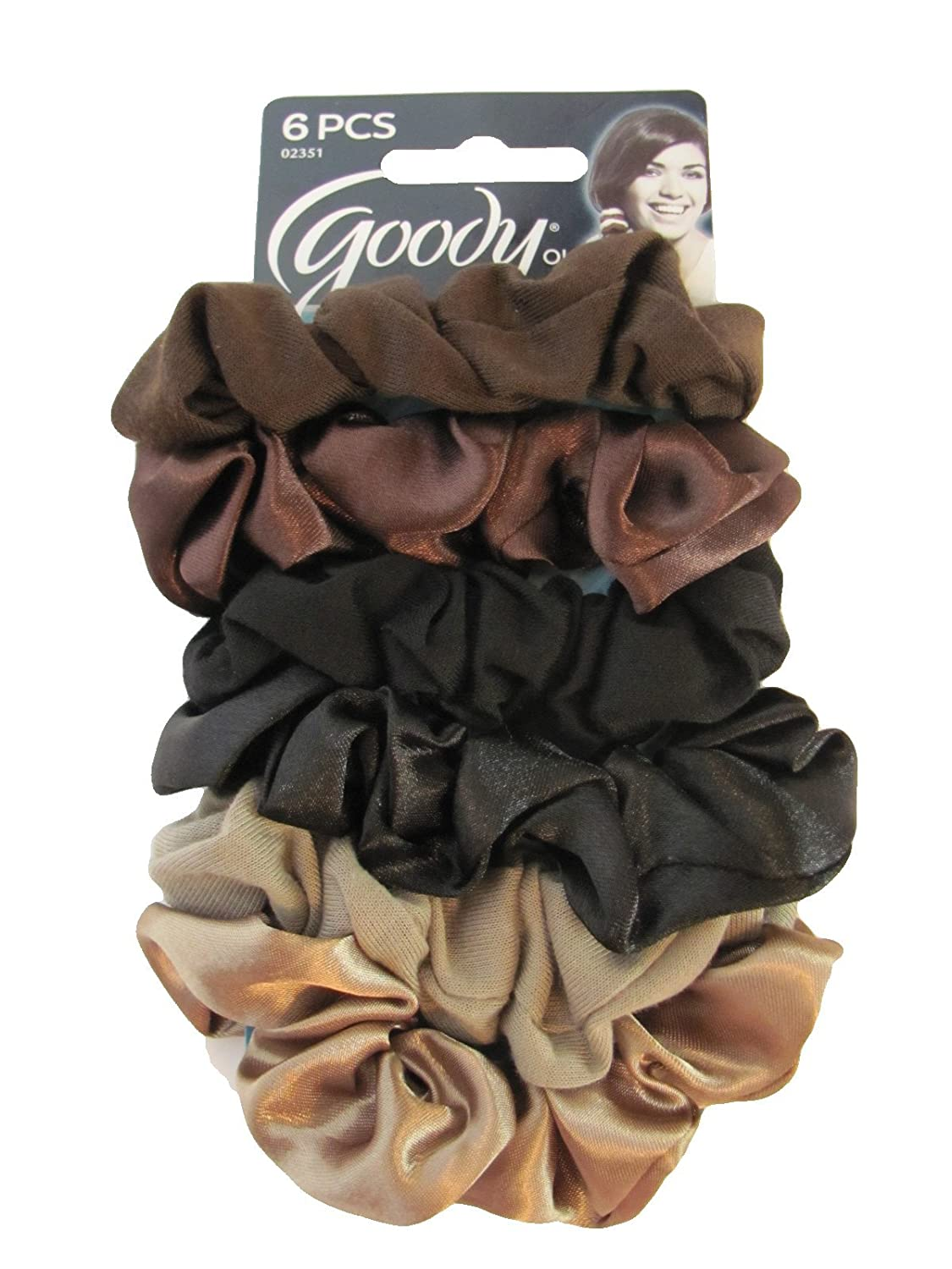 goody ouchless hair scrunchies 6 pcs apparel accessories clothing accessories accessories. Black Bedroom Furniture Sets. Home Design Ideas