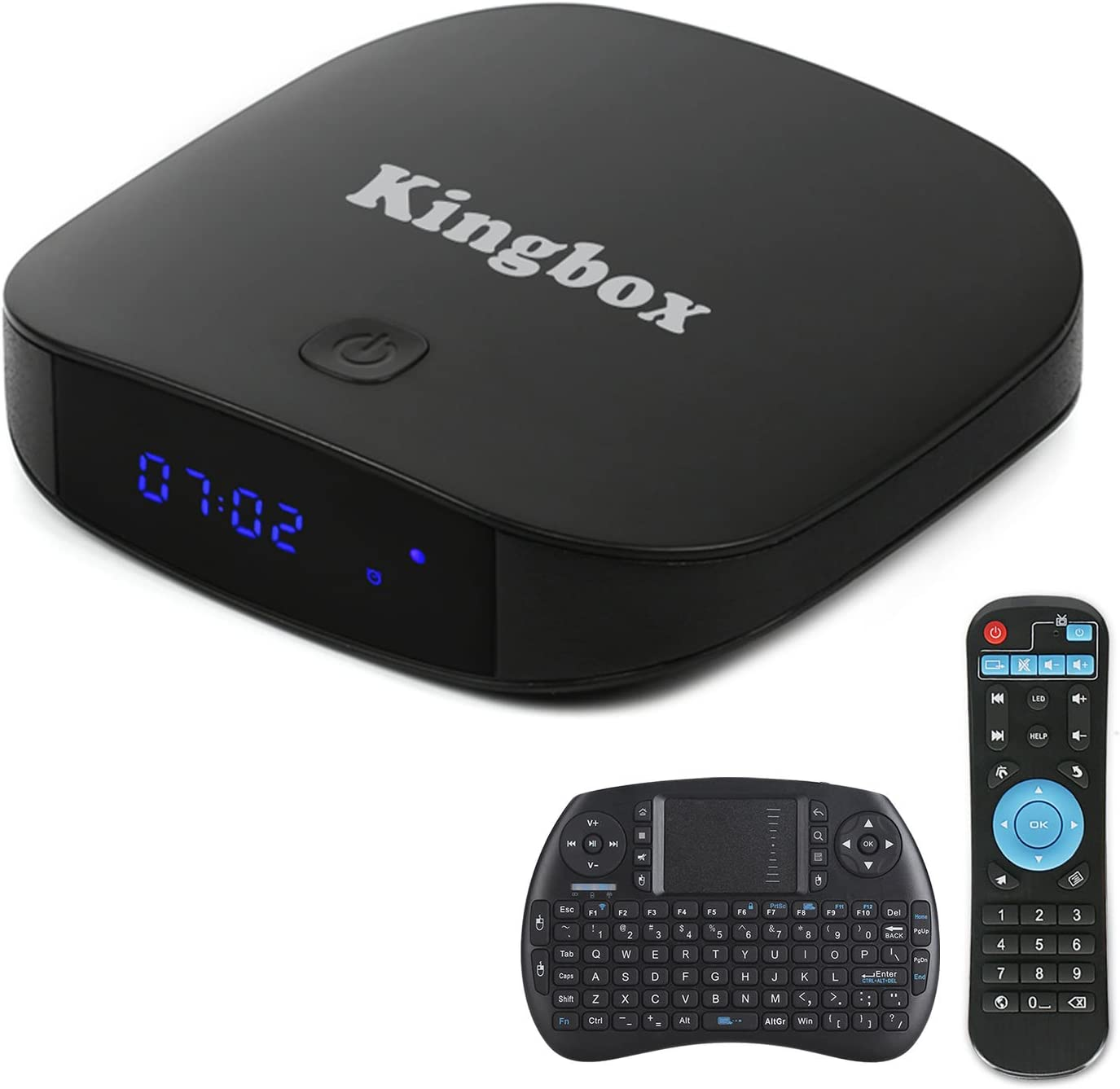 Kingbox K1 PLUS Android 6.0 TV 2GB RAM + 8GB ROM / 4K / 4 Core / H.265 / BT 4.0 Smart TV Box con Mini Tastiera Senza Fili [2017 Ultima Generazione]