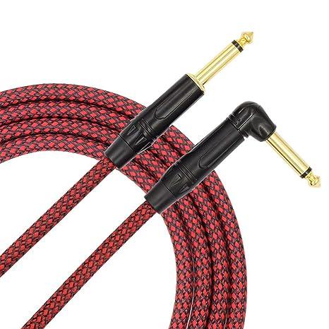 6.35 Guitarra Instrumento cable Guitarra eléctrica línea de bajo Cable Accesorios para instrumentos musicales Vida solitaria