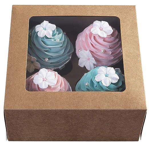 Cajas de papel kraft para cupcakes, 15 unidades, para el día de ...