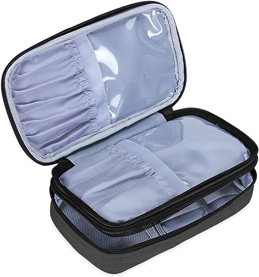 Teamoy Trousses /à maquillage Small, Purple 21.5cm//8.5 pouce au max Accessoires de maquillage et outils- No accessoires inclus, Voyage Pinceaux Maquillage sac pour Pinceaux maquillage