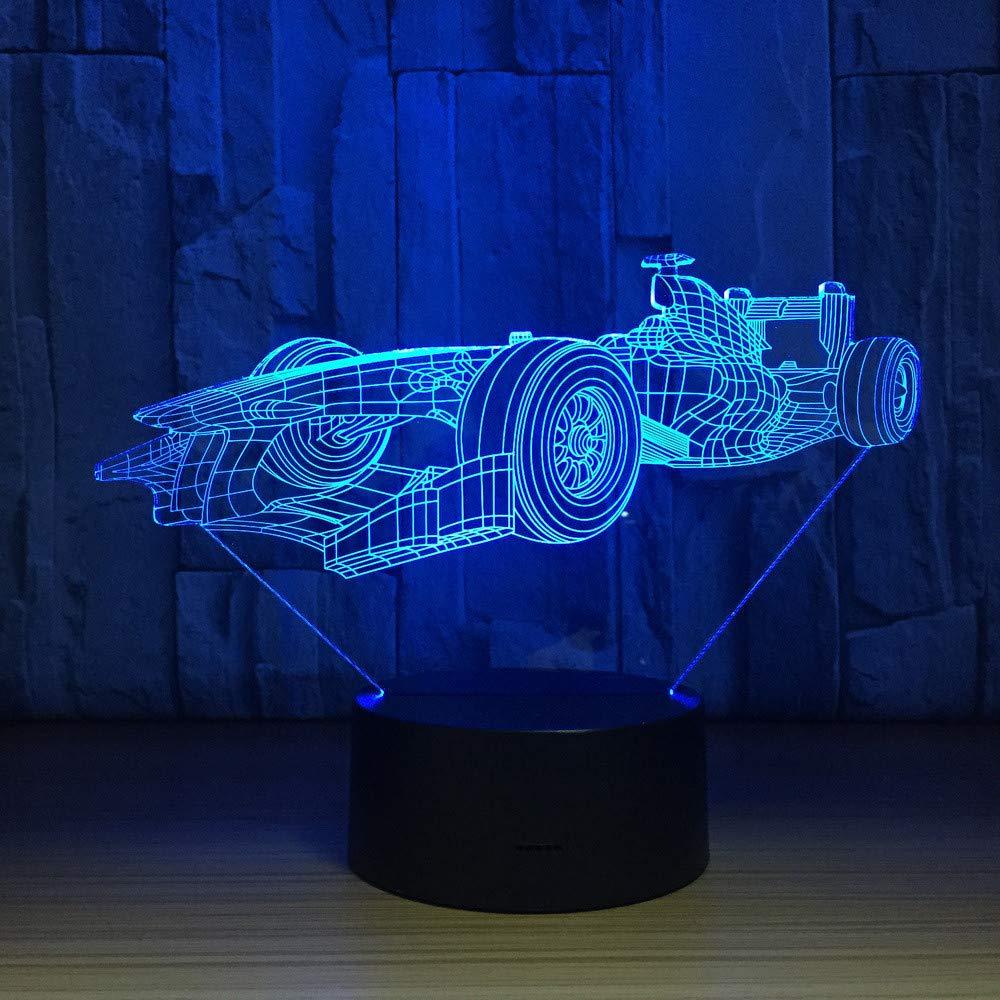Coole Sport Rennwagen 3D LED Lampe Touch Sensor 3D Nachtlicht Für Sport Fans Beste Geschenk 7 Farbwechsel Beleuchtung Lampe