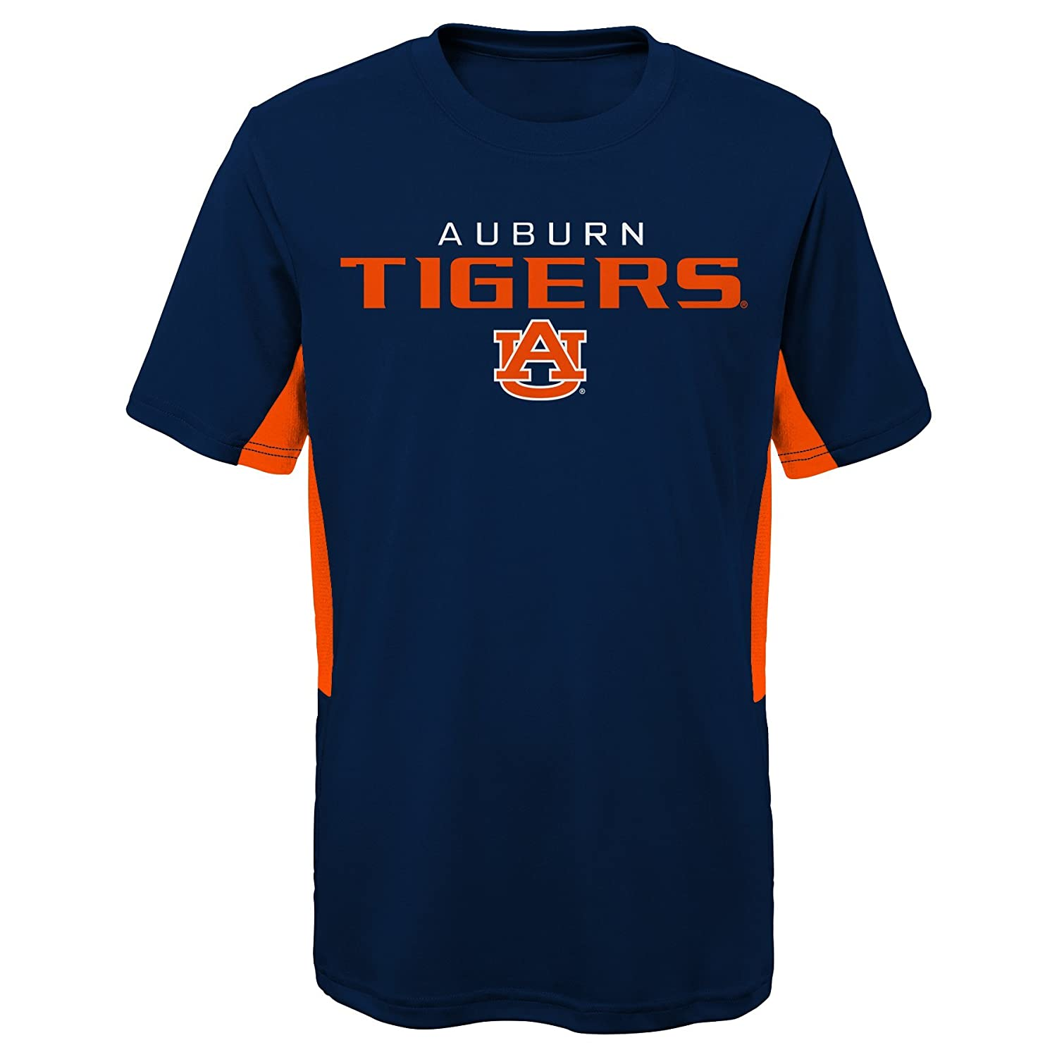 NCAA by Outerstuff NCAA Auburn Tigers Youth Boys Mainframe: Short Sleeve Performance Top 14-16 Youth Large Dark Navy