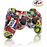 PS3 controller Wireless Bluetooth Double Shock Sixaxis Remote Gamepad for Sony PS3 PlayStation 3-Street Graffiti 3-5 years old Gift from dainslef