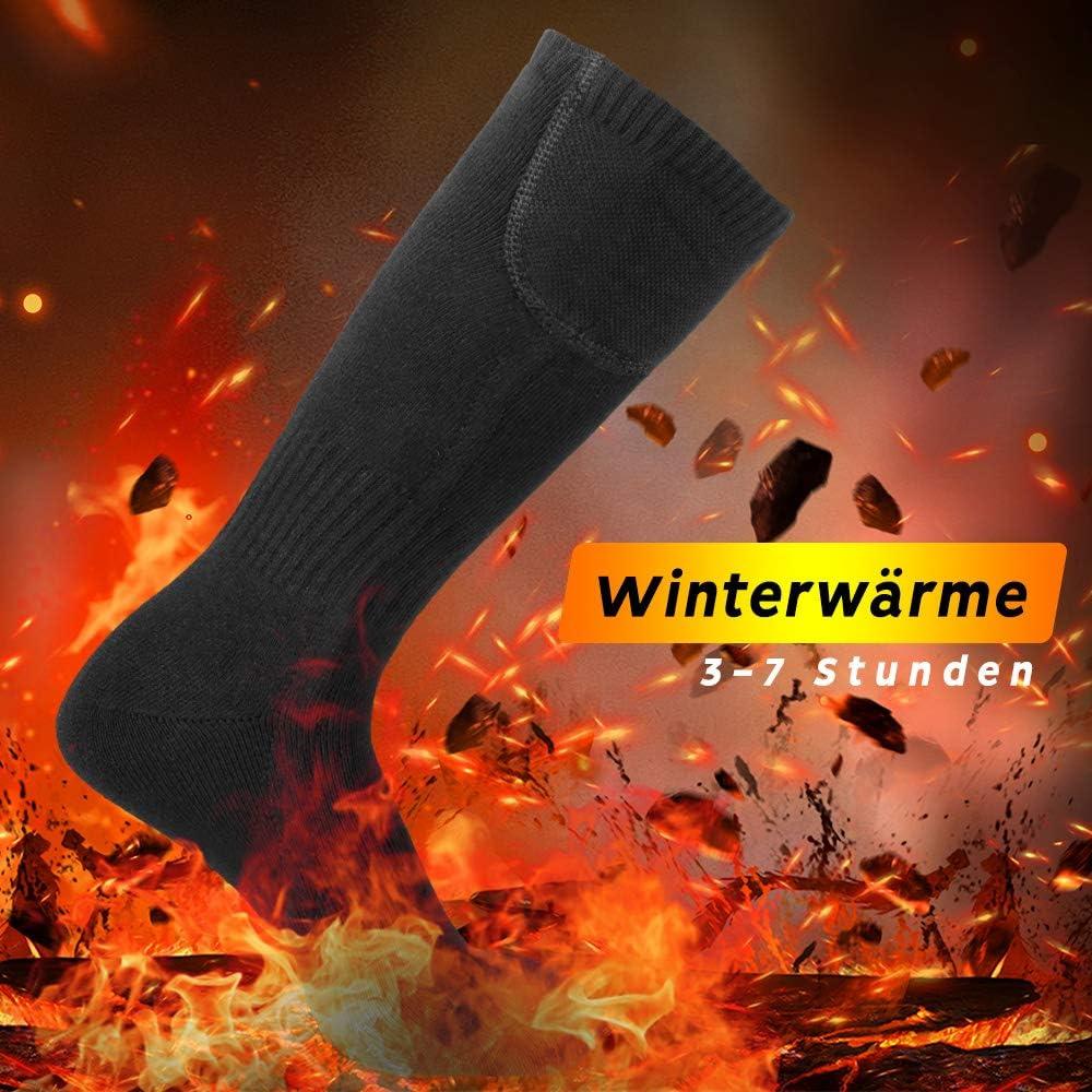 cinsey Elektrisch Beheizbare Socken Wiederaufladbare Batteriebetriebene Socken f/ür M/änner und Frauen Thermosocken f/ür kaltes Wetter f/ür Sport Outdoor Camping Wandern Warmer Wintersocken
