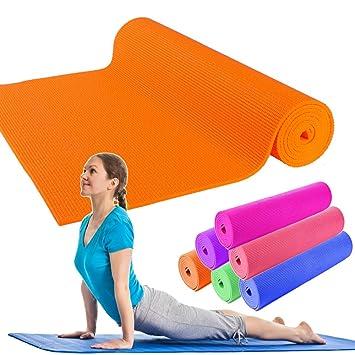OUTLETISSIMO Alfombrilla Yoga Alfombra Naranja Pilates ...