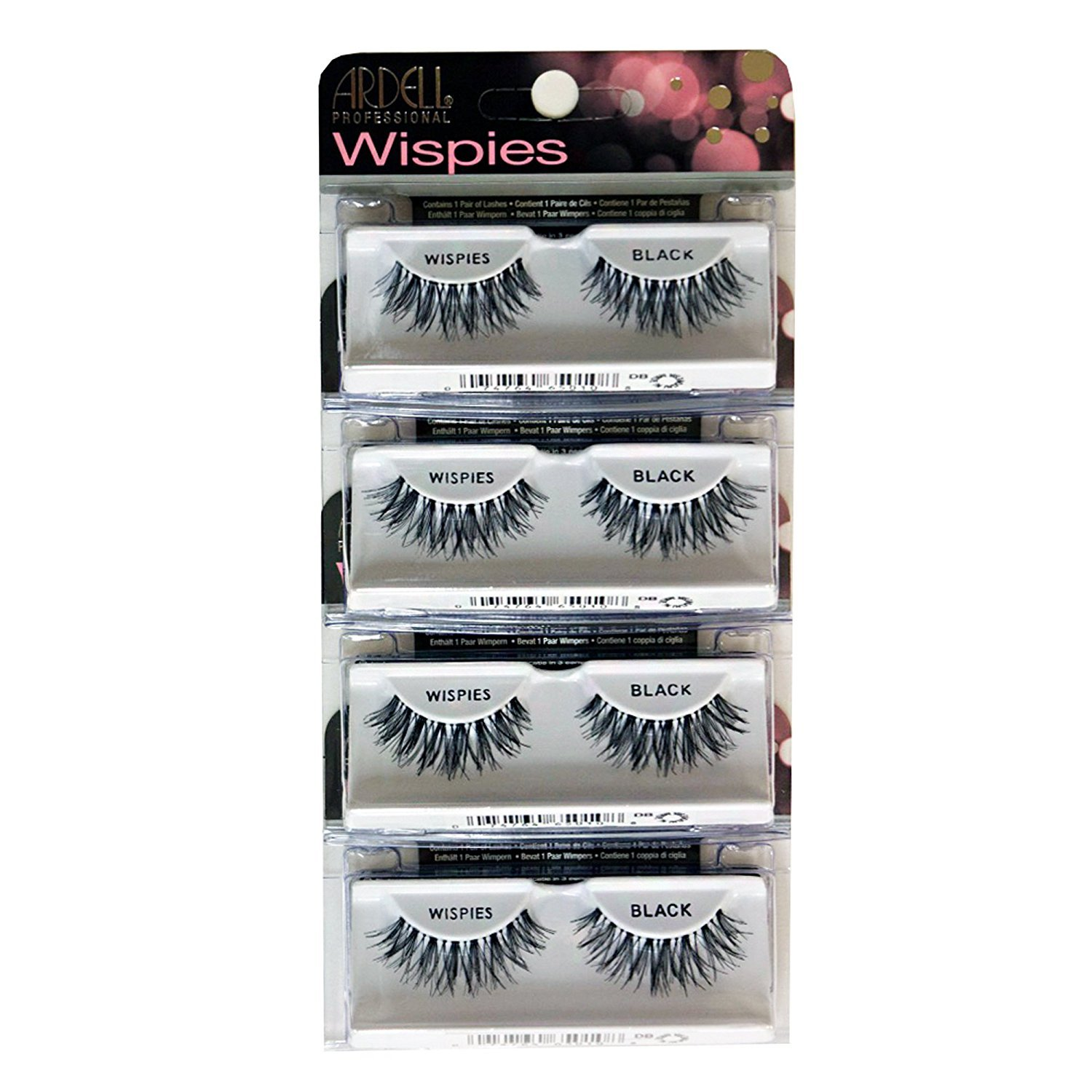 f254014f4aa Amazon.com : Ardell Fashion Lashes Pair-Wispies (Pack of 4) : Beauty