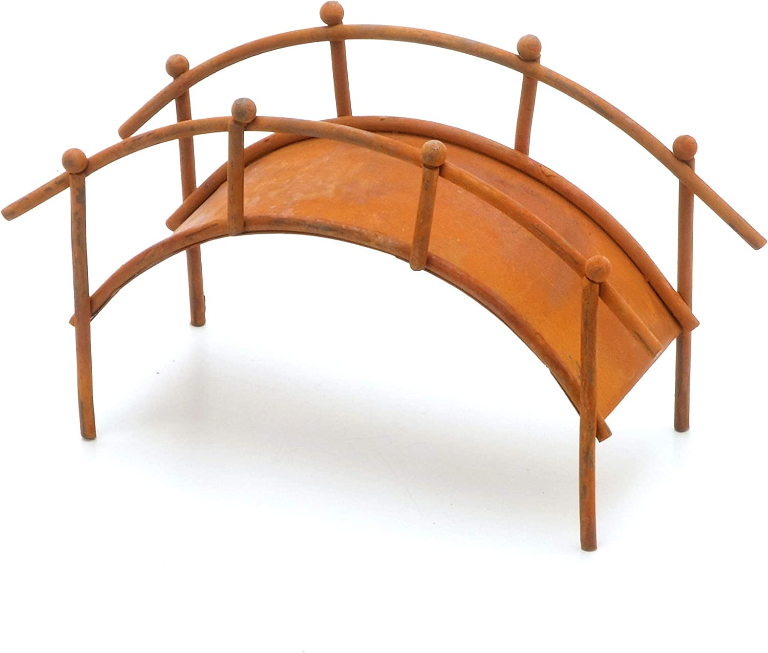 Darice Mini Bridge with Handrail, Rustic Finish