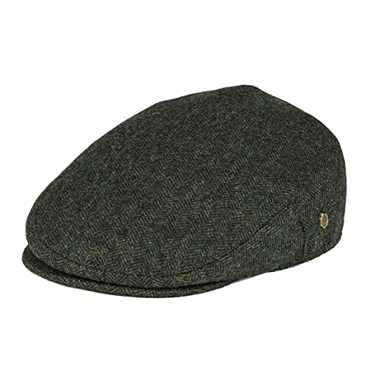 c1d77abe390 VOBOOM Men s Herringbone Flat Ivy Newsboy Hat Wool Blend Gatsby Cabbie Cap  (Army Green
