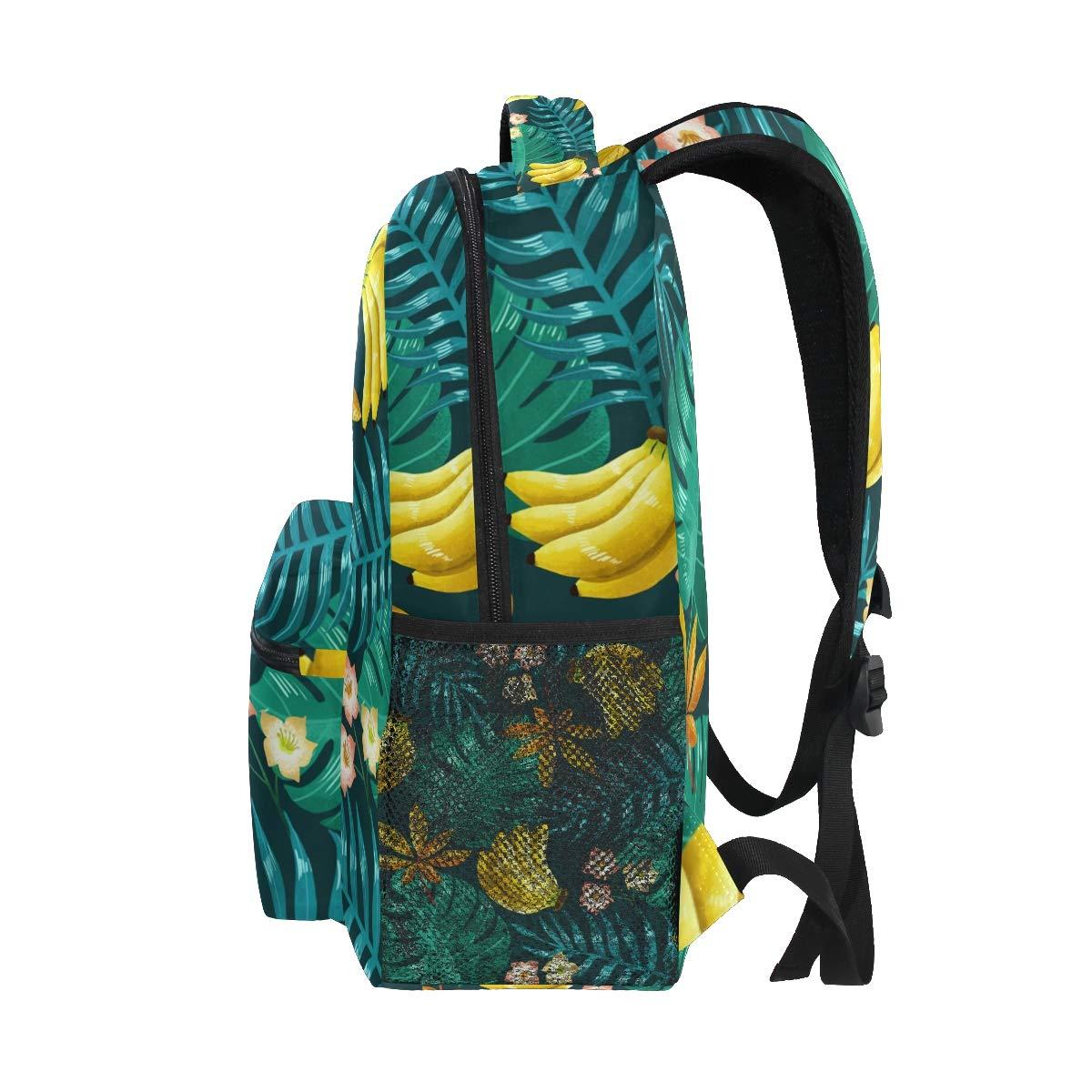 Pink Pineapple Backpack School Bag Travel Rucksack for Students Girls