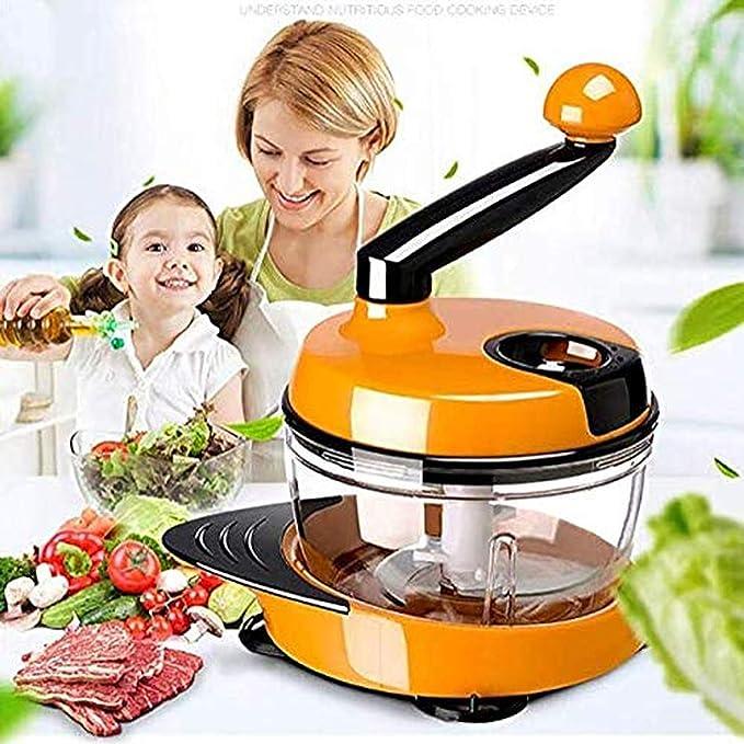 Amyzs-Qpq Picadora de carne Food Chopper Robot de cocina multifunción Pequeña Picadora de carne doméstica multifunción Chopper herramienta de cocina: Amazon.es: Hogar
