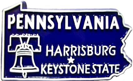 Pennsylvania the Keystone State Souvenir Fridge Magnet
