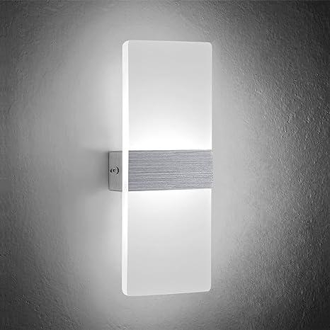 NetBoat Lampada da Parete 6W Led interni Moderno Applique da parete ...