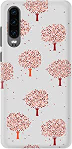 Stylizedd Huawei P30, Slim Snap Basic Case Cover Matte Finish - Orange Fall