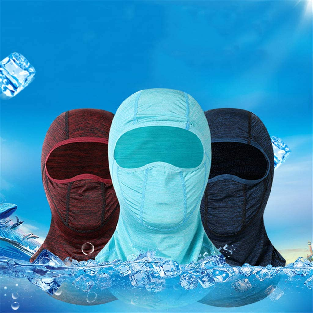 Multi-Function Ice Silk Face Mask Headgear Outdoor Cycling Motorcycle Breathable Windproof Headband Sunscreen Dust Mask