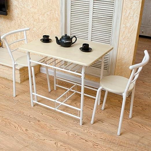 GYH ZhuoZi LJHA Mesas Plegables y sillas Mesa para Dos 1 Mesa y 2 ...