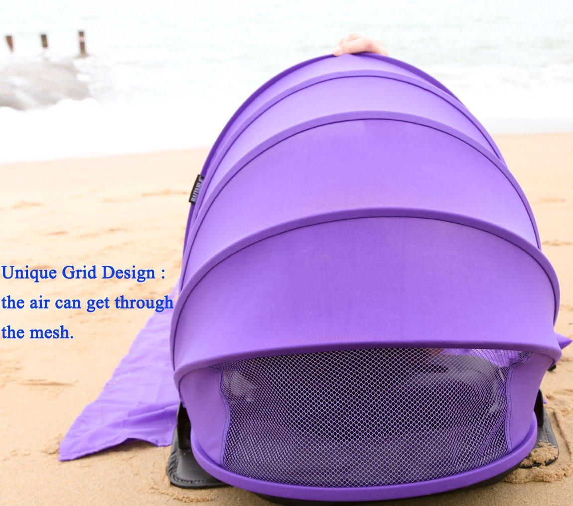 AIRGOODS Tente de Protection dombre de Visage dabri de Soleil R/églable de HAIYANLE et Ombre portative de Soleil pour la Plage