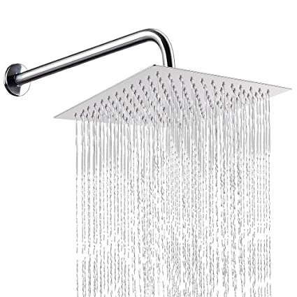 12 Inch Shower Head With 15 Inch Extension Arm Nearmoon Square Rain