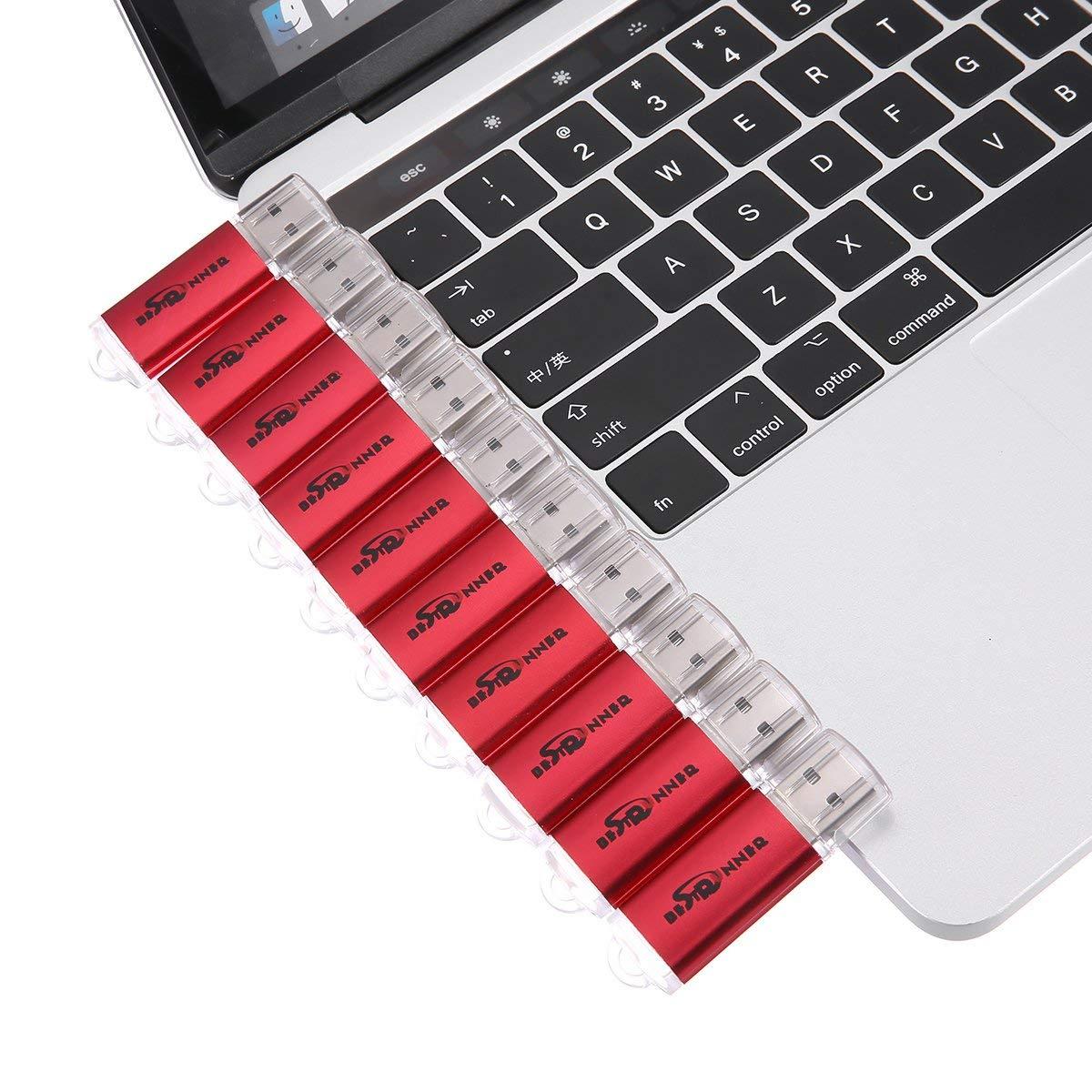 NOT 256GB BestRunner 10Pcs USB Flash Drive USB 2.0 Memory Stick Pen Drive USB Storage Thumb Stick 256MB Small Capacity Red