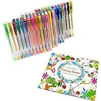 اقلام متعددة ملونة للكبار، كتب التلوين، كتاب القصاصات Color Gel Pen