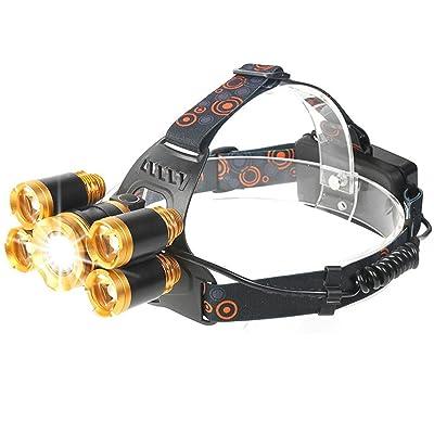 STTMA 40W Super Bright Rechargeable Zoomable imperméable à la flamme torche pour la lumière extérieure Head Head Light Light (1PCS)