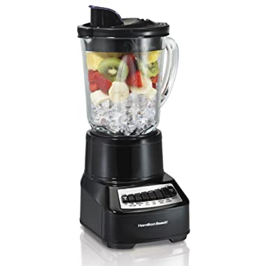 Hamilton Beach (54220) Blender with 14 Speeds & 40 oz Glass Jar, For Shakes & Smoothies, Multi Function, Electric, Black