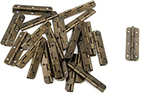 Tulead Door Hinges Folding Hinges 2-Inch Butt Hinges Cabinet Hinge Replacement Bronze Piano Hinges 24PCS with Mounting Screws